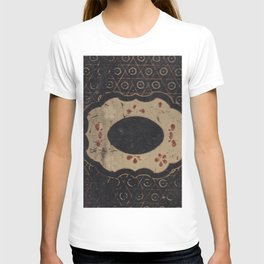 Vintage Japanese lacquer box pattern T-shirt