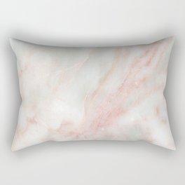 Softest blush pink marble Rectangular Pillow