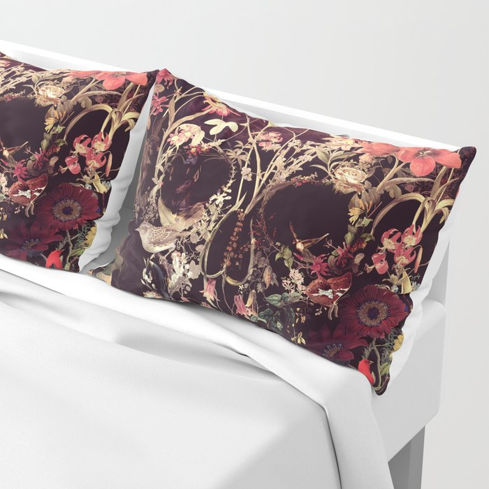 Bloom Skull Pillow Sham