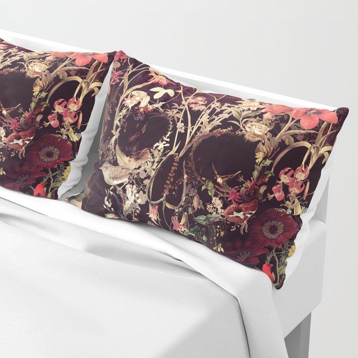 Bloom Skull Pillow Sham