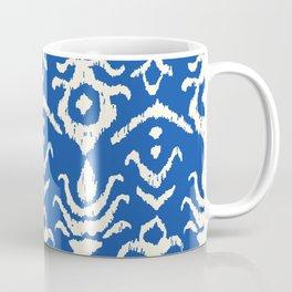 Blue Ikat Damask Print Coffee Mug