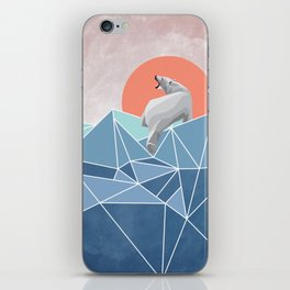 Polar Bear live in North Pole iPhone Skin