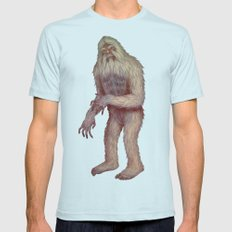 Yeti Light Blue Mens Fitted Tee LARGE