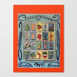 Mexican Bingo Loteria Canvas Print