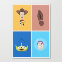 toy story Canvas Prints featuring Toy Story by Al Power