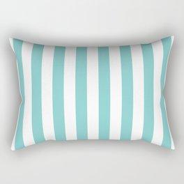 Vertical Aqua Stripes Rectangular Pillow