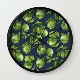 Lime Dark Pattern Wall Clock