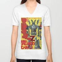 manga V-neck T-shirts featuring Manga 01 by Zuno