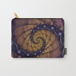An Emperor Scorpion's 1001 Fractal Spiral Stingers Carry-All Pouch