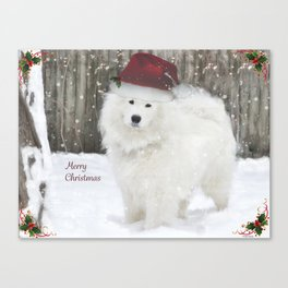 Samoyed Christmas Design Canvas Print