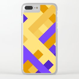 Weave pattern #1 Clear iPhone Case