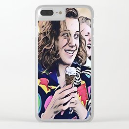 Cool girl Eleven Clear iPhone Case