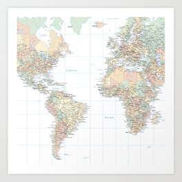 Geography art prints society6 clear world map art print gumiabroncs Images