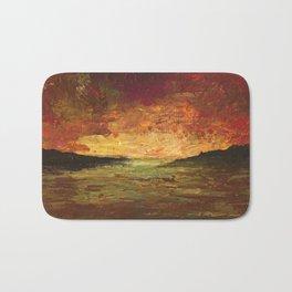 Sunset Experiment Bath Mat