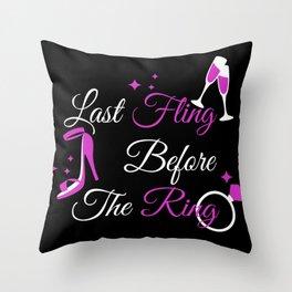 Bachelorette party masks, marriage, Bachelorette Throw Pillow