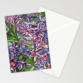 His Wife's Lilacs Stationery Cards