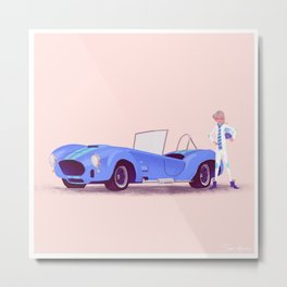 G'mas and their Hotrods Series, no.05 Shelby Cobra Metal Print