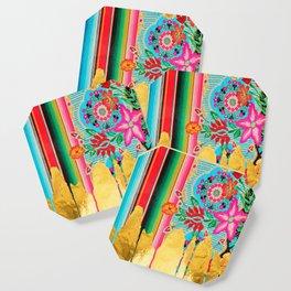 Gold Dipped Boho Serape Dream Coaster