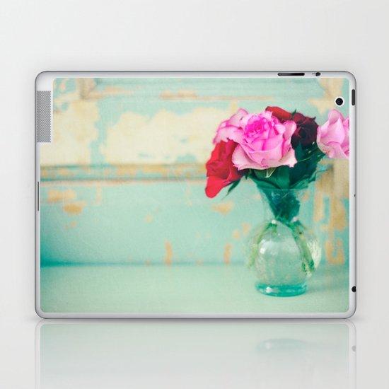 Retro Roses Laptop & iPad Skin