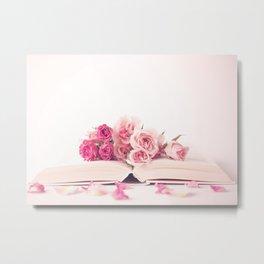 Wide Open Book Of Love Metal Print