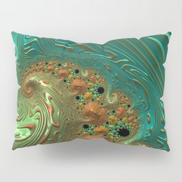 Cool Creamsicle - Fractal Art Pillow Sham