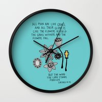 bible Wall Clocks featuring Bible message by ssongso