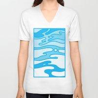 camo V-neck T-shirts featuring Pop Camo by Joe Van Wetering