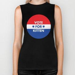 Vote For Kitten Biker Tank