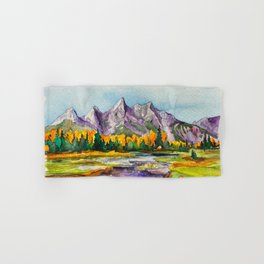 Grand Teton National Park Hand & Bath Towel