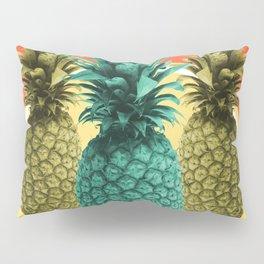 Pineapple Print - Tropical Decor - Botanical Print - Pineapple Wall Art - Orange, Blue - Minimal Pillow Sham