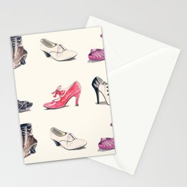 Vintage Shoes Pattern Stationery Cards