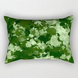 Green Paint Splatter Camo  Rectangular Pillow