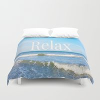 relax Duvet Covers featuring Relax by JuniqueStudio