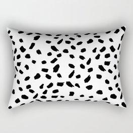 Brush Stroke Dots Rectangular Pillow