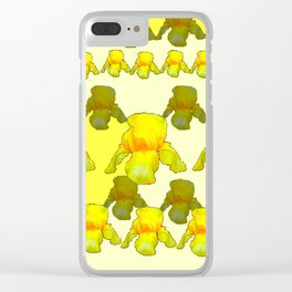 YELLOW IRIS FIELDS Clear iPhone Case
