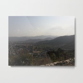 View from the Ashram - Pokhara, Nepal Metal Print