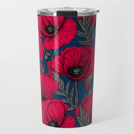 Night poppy garden  Travel Mug