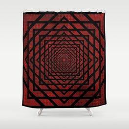 Eternally Red Shower Curtain