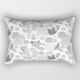 Hipster otters Rectangular Pillow