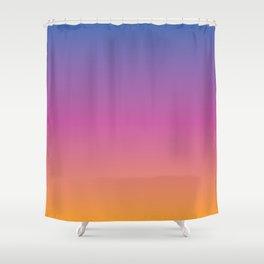 Blue purple pink orange yellow evening sky gradient Shower Curtain