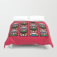 letters Duvet Covers featuring Brief Letters by Teesha Toosha
