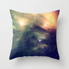 Galaxy: Pleiades Star Cluster neBULa Deep Pastels Throw Pillow
