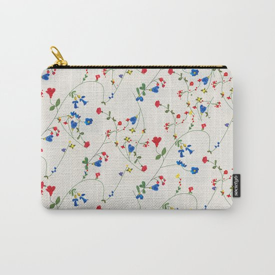 Bright Flower Pattern Carry-All Pouch