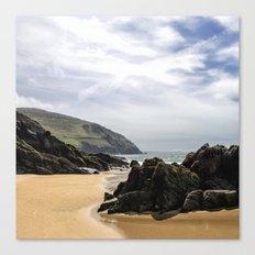 Peaceful sand and ocean Canvas Print