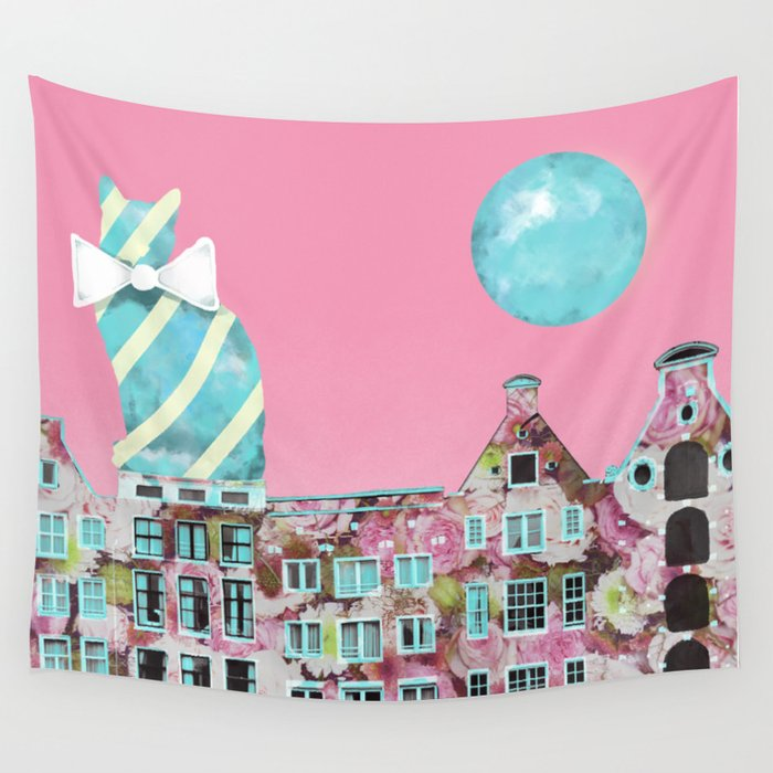 The Cat of Amsterdam Wall Tapestry