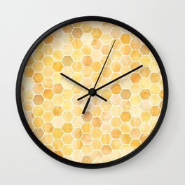 Honeycomb Pattern Wall Clock