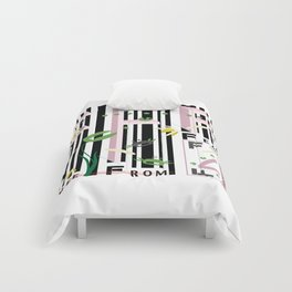 Four Freedoms Barcode Black Comforters