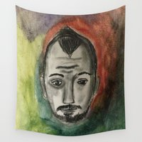 michael scott Wall Tapestries featuring Michael by Samantha Bowie