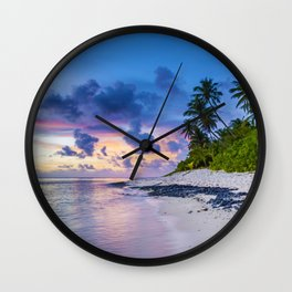 Picturesque Beach View (Color) Wall Clock