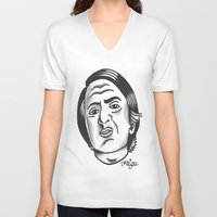 sagan V-neck T-shirts featuring Carl Sagan by @VEIGATATTOOER